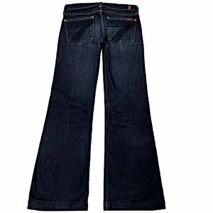 7 For All Mankind Dojo 27X31 Flare Dark Blue Jeans